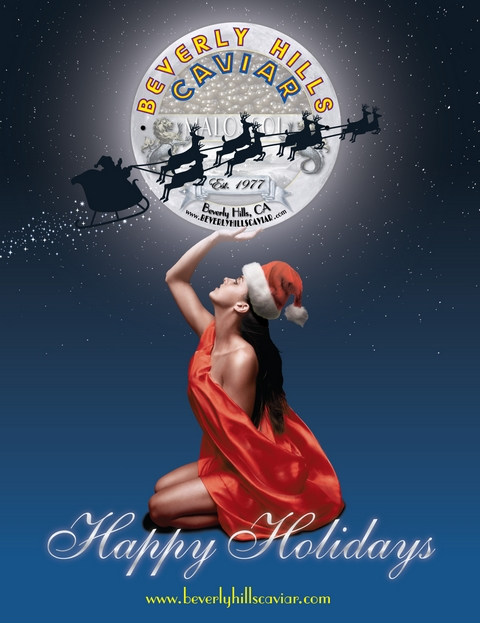 Beverly Hills Caviar, Happy Holidays, Holiday Celebrations, Christmas Caviar, New Years Caviar