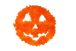 Spooky Red Caviar Pumpkin