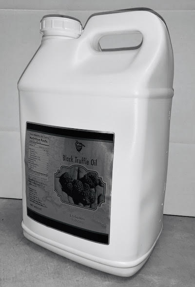 Black Truffle Oil 7.5 gallons ($80/Gallon) - Case of 3 X 2.5 gallons