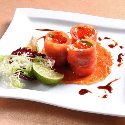 Salmon cups appetizers