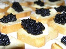 Serve Mini Toasts with Fresh Asatrina Hackleback Caviar
