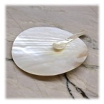 Classic Mother of pearl plate and spoon