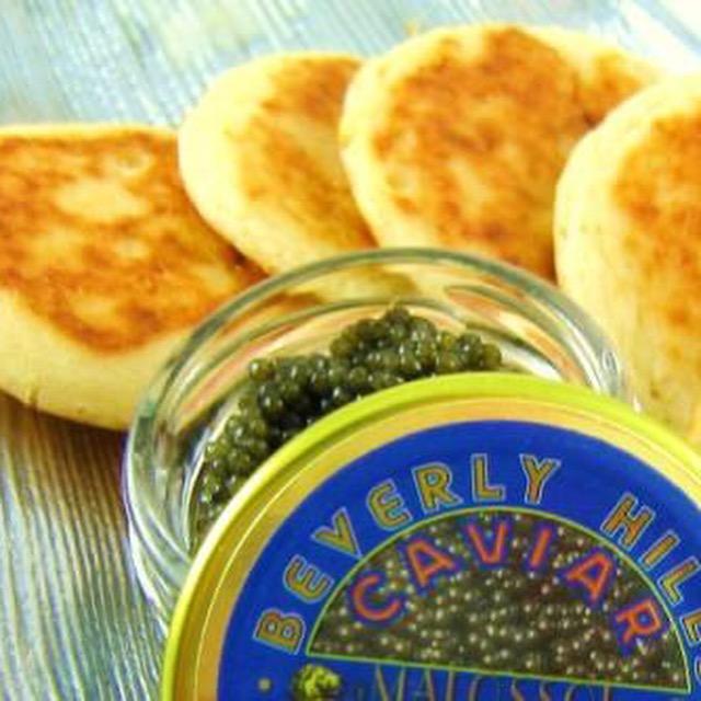 Bite Size Blinis - 8 - 10 PCs - serving 2oz of caviar