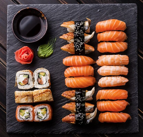 Sushi Caviar Sampler - 40g Classic Osetra Caviar, 1oz Black Tobbiko, 1oz Yellow Tobbiko, 30g Escargot Caviar