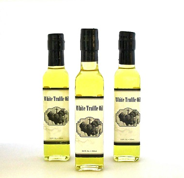 White Truffle Oil in 250ml Glass Bottle - Free Shipping and Handling Included