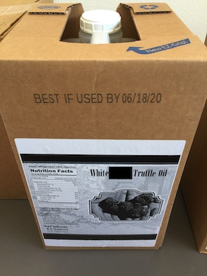 White Truffle Oil 4.5 gallons ($95/Gallon) - Extra Strong