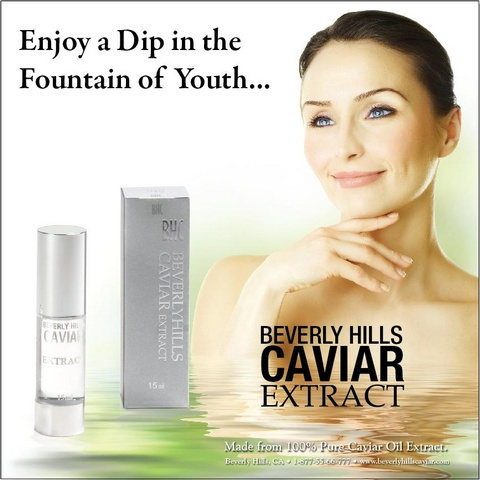 Caviar Facial - Caviar Serum - Caviar Extract - Anti Aging Caviar Skin Care Treatment - Free Shipping and Handling Included