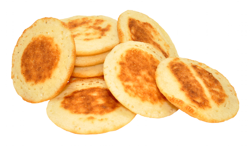 Extra Small Blinis - 1'' diameter  (10 - 12 pieces) - Free Shipping and Handling Included