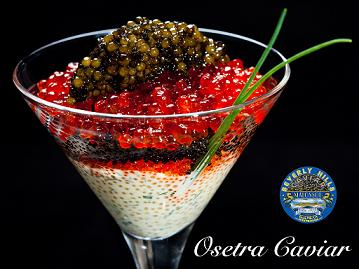 Golden Osetra Caviar 200g (Blue Tin)